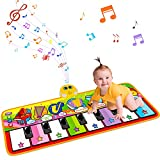 STREET WALK Kids Musical Mats, Musical Toys Child Floor Piano Keyboard Mat-Baby Music Blanket Touch Playmat,Early Education Toys for 3 4 5 6 Year Old Toddler Girls Boys