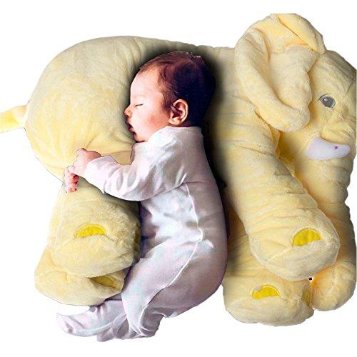 Tickos Baby Elefanten Kopfkissen Kinder Elefanten Spielzeug Plüsch Elefanten Kissen Perfekte Geschenke für Neugeborene (Gelb)