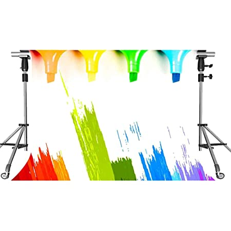 Paint Splatter Backdrop Color Cartoon Photography Background MEETSIOY 7x5ft Themed Party Photo Booth YouTube Backdrop PMT877