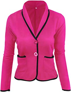 7b6028ab6b1 iYYVV Women Business Cropped Coat Blazer Suit Long Sleeve Tops Slim Jacket  Outwear