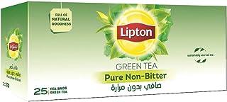 شاى اخضر صافي بدون مرارة من ليبتون - 25 كيس