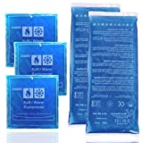 5er Set Warmkompresse - Kaltkompresse - Kompresse Gelkissen - Cool pads - kalt & Warm Kühlpacks - Mehrfach verwendbar Kühlakku