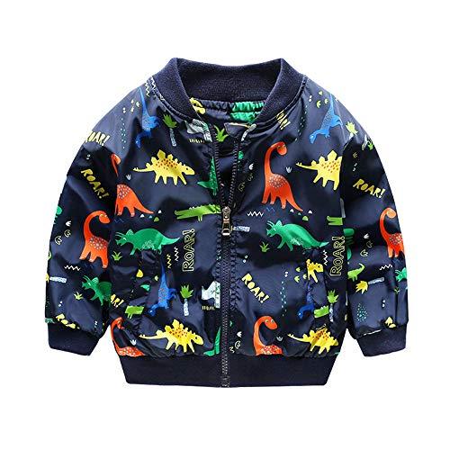 Giacca Bambino Invernali Dinosauro,Homebaby Giacca del Mantello del Cappotto di Inverno della Neonata Giubbotto Vestiti Caldi Spessi Felpa Maniche Lunghe