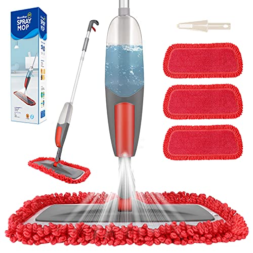 Spray Mop,Aiglam Floor Mop, 550ml Microfibre Mop with 3 Free Reusable...