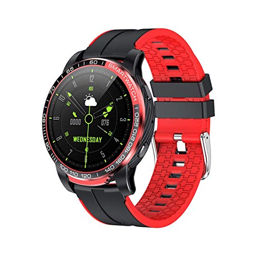 XXY Nueva PW20 Bluetooth Call Smart Watch Hombres Presión Arterial 24 Horas Ratio Cardíaco SmartWatch Deportes Multimodo para Android iOS (Color : Red)