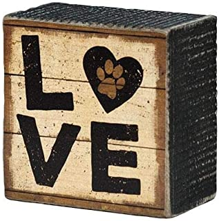 Dog Lovers Box Sign 3 inches Rustic