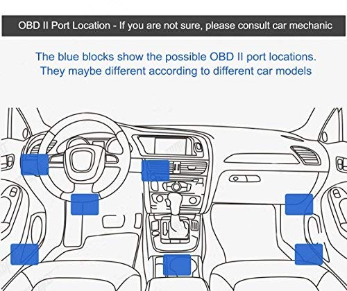 CoCar OBD2 DVR Dashcam Ladekabel Mini USB Adapter mit Schalter, 16 Pin OBDII Auto/Fahrzeug direkt zur Batterie/ Festverkabeltes Kabel Autoladegerät für PDA Handy GPS Tablette – 3M/11.5FT Draht – DC12-24V zu 5V - 6