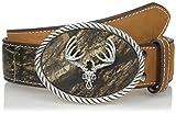 Nocona Belt Co. Men's Bone Collector Buckle, Mossy Oak/Camo, 36
