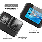 [6pcs] FINEST+ Screen Protector for GoPro Hero 8 Black Tempered Glass Screen Protector + Tempered Glass Lens Protector… 14 【Secifically Design】 Compatible with GoPro Hero 8.Black action camera Only. 【High-Transparency】It provides you high-definition clear viewing. Hydrophobic Oleophobic screen coating protects your camera screen against sweat and oil residue from fingerprints and keeps high-sensitivity touch response. 【9H hardness】 Our Tempered Glass has 9H hardness. It protects the camera screen from high impact drops, scratches, scrapes, and bumps. It also keeps away the camera screen from sharp objects such as keys and knives, etc.