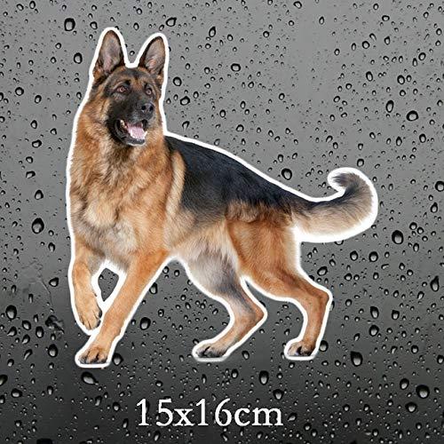 BDDLLM Autoaufkleber TZ-1737# 13 x 20 cm Deutscher Schäferhund an Bord Autoaufkleber Lustig Autoaufkleber Auto Aufkleber 4 teilig 1738 bunt