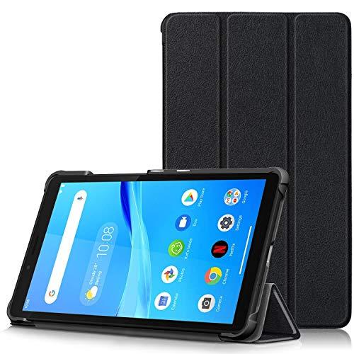TTVie Case for Lenovo Tab M7 - Ultra Slim Lightweight Smart Shell Stand Cover for Lenovo Tab M7 7-Inch Tablet 2019 Release, Black