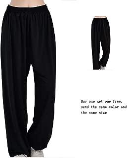 Unisex PantalonesTai Chi pantalones femeninos sueltos Kung Fu ropa pantalones de entrenamiento para hombres pantalones de artes marciales yoga linterna pantalones(compre uno y llévese otro gratis)