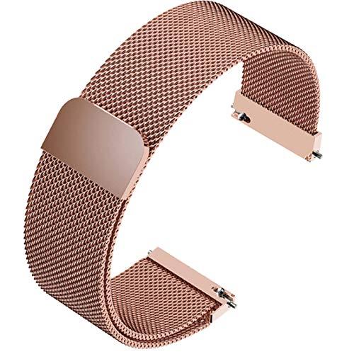 FJXJLKQS Correas de Reloj para Mujer Correa de Reloj Correa de Reloj de Repuesto de Malla de Acero Inoxidable Ajustable Transpirable E Impermeable Liberación Rápida,D-18mm