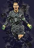 HONGSHUAI Manuel Neuer Leinwand Wandkunst Leinwand Druck
