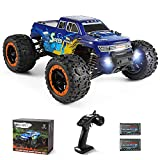 MIEBELY Fast RC Cars – 4x4 Remote Control Car for Adults and Kids – 1:16 Scale Electric Powered 40km High Speed – 4WD All Terrain Off Road Truck – Ideal for Kids and Adults – 2 Rechargeable Batteries