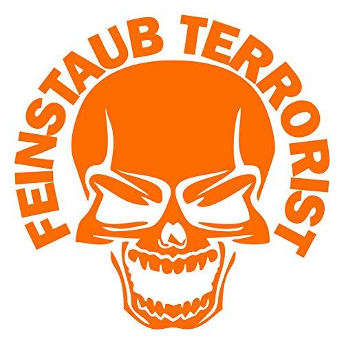 FEINSTAUB TERRORIST Aufkleber Skull Aufkleber JDM DUB Autoaufkleber (PASTELLORANGE)