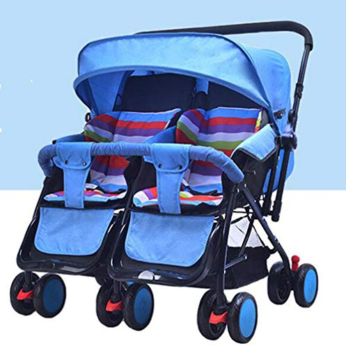 Learn More About Strollers Four-Wheel Suspension Foldable High Landscape Portable Twins Baby Carriag...