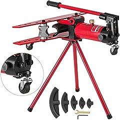 Mophorn Pipe Bending Machine 2.75-4.5mm Buigslang handmatige slang dikte 16T Buigpers Bender Pipe Steel Output 22mm-60mm Buitendiameter (16T)*
