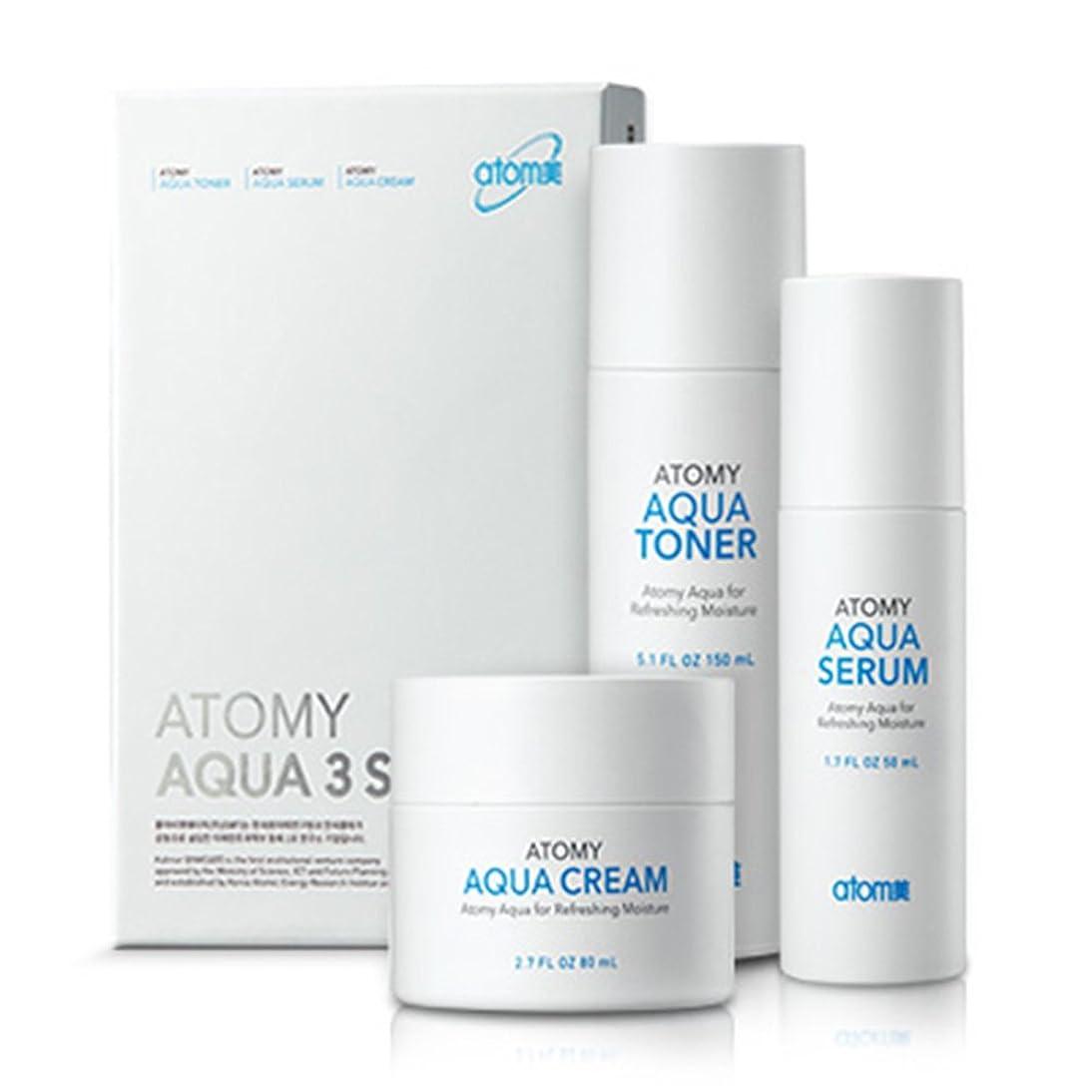 座る回想ヒューズ[Atom美 アトミ/ Atomy] AQUA 3-piece set Waterfull Toner, Serum, Cream/アクア水分3点セット+[Sample Gift](海外直送品)