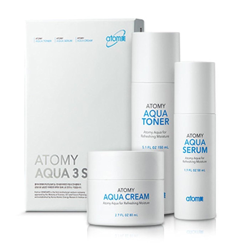 影響力のあるメンタル拍手する[Atom美 アトミ/ Atomy] AQUA 3-piece set Waterfull Toner, Serum, Cream/アクア水分3点セット+[Sample Gift](海外直送品)