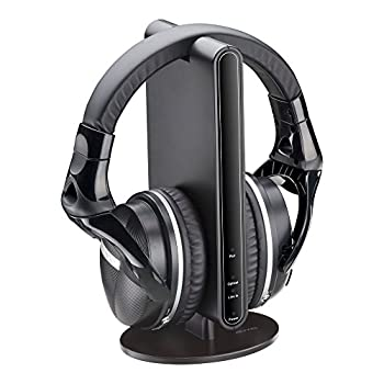 AUVIO Wireless Stereo Headphones for TV with Docking Station and Digital Optical TOSLINK Audio Support