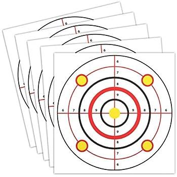 Juvale Shooting Range Paper Bullseye Targets for Firearms Practice  11 x 11 in 50 Pk