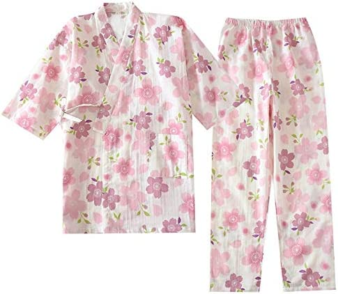 Ycxydr Pijama algodón Tejido Hembra Kimono Pijamas al por ...