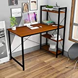 <span class='highlight'><span class='highlight'>Hironpal</span></span> Computer Desk Study Table Workstation PC Laptop Desk Table with 4 Tier Shelves for Storage Home Office Desk Study Wring Desk Gaming Table Furniture Sets for Living Room Bedroom