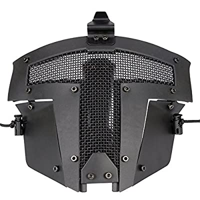 Hunting Explorer Tactical Paintball Airsoft Full Face Steel Mesh Mask (Sparta stylish)
