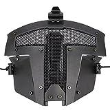 SGOYH Airsoft Tactique Visage Complet Masque De Protection Masque Paintball Mise À Niveau en Métal Masque en Acier pour BB Gun...