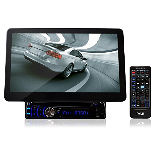Pyle PLD10BT 10.1-Inch Motorized Touchscreen Bluetooth Receiver Multimedia System with Built-In DVD Player