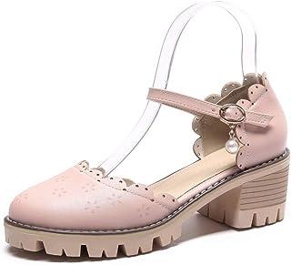 BalaMasa Womens ASL06521 Leather Platform Heels