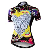 Weimostar Maillot de ciclismo para mujer MTB, Mujer, 1 color., XL = Brust 96-106 cm