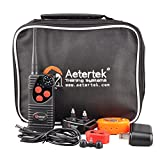 600 YARD REMOTE DOG TRAINER WITH WATERPROOF RECHARGEABLE DOG TRAINING SHOCK COLLAR: 7 ADUSTABLE SHOCK LEVELS PLUS BEEP TONE AND VIBRATION FOR ONE DOG TRAINING by Aetertek