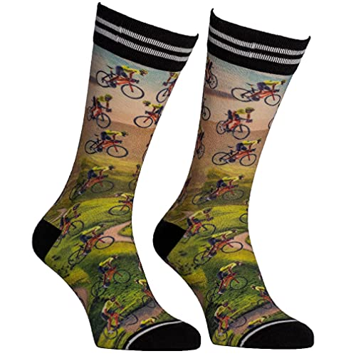 sockmyfeet - Lustige Socken Herren 43-46 Bunt, Rennrad Socken, einzigartige bunte Socken mit anspruchsvollen Fotos, Funny Socks gedruckt auf ägyptischer Baumwolle, Coole Socken