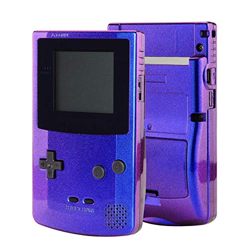 eXtremeRate Chameleon Purple Blue GBC Replacement Full Housing Shell Cover w/Buttons Screws Screwdriver Tools Set for Gameboy Color - Handheld Game Console NOT Included