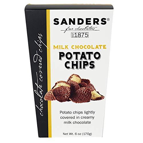 Sanders Milk Chocolate Covered Potato Chips Snacks 6 oz Gift Box