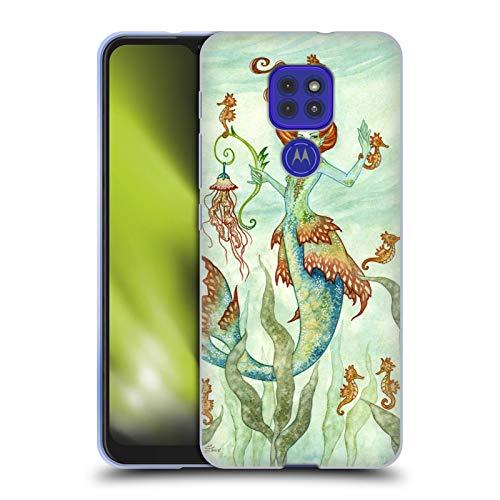 Head Case Designs Licenciado Oficialmente Amy Brown Guardián del Caballo Hadas Elementales Carcasa de Gel de Silicona Compatible con Motorola Moto G9 Play