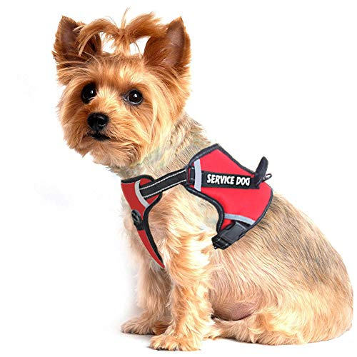 LMOBXEVL Service Dog Harness,No-Pull Dog Harness with Handle Adjustable Reflective Pet Dog in Training Vest Harness,Easy Control for Small Medium Large Breed Outdoor Walking Hiking