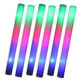 Schramm 6er Pack LED Partystick 47cm Styropor 3 Funktion Party Stab Schaumstoff Party Stick incl. Batterien leuchten wie Knicklichter Glow Sticks