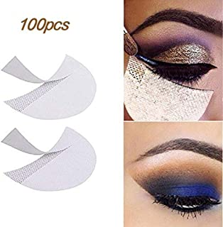 LKE 100pcs Eyeshadow Stencils Professional Pads Under Eye Eyeshadow Gel Pad Patches for Eyelash Extensions/Lip Makeup