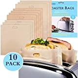 Toaster Beutel Non-Stick Wiederverwendbare Toastabags Waschbar Teflon Toaster Beutel für Toast Sandwich,...