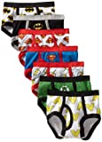 DC Comics Handcraft Little Boys' Justice League Logo Brief (Pack of 7), Assorted, 2T/3T