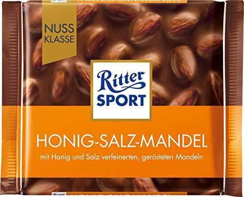 Ritter Sport Nuss Klasse Honig-Salz-Mandel, 100g
