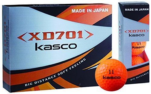 キャスコ(Kasco) ゴルフボール XD701 日本製2ピースボール メンズ XD701 JP オレンジ 1ダース(12個入り) カバー素材:アイオノマー
