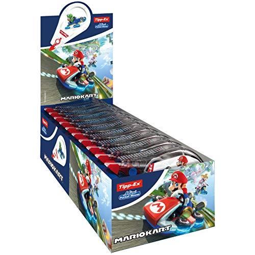 Tipp-Ex Mario Kart Mini Pocket Mouse Rubans Correctores 6 m x 5 mm – Decoraciones surtidas, caja de 10