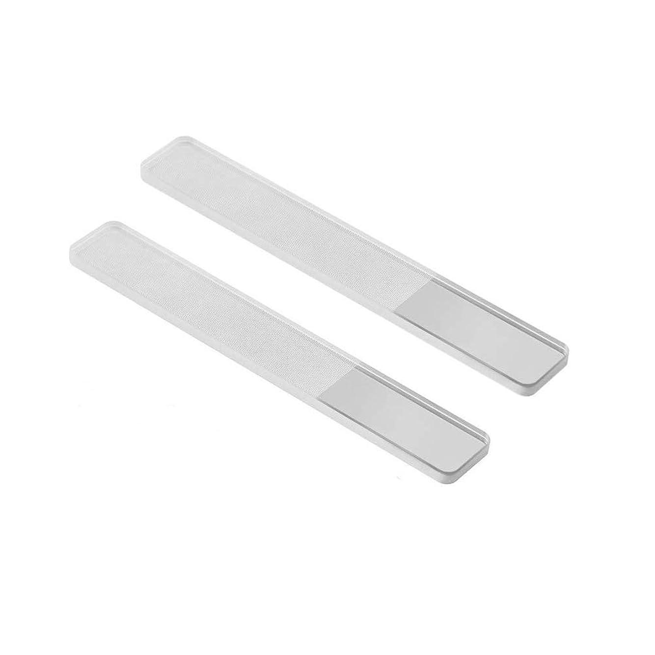 ご予約真似る普通の2個入 高品質 爪磨き 爪やすり ガラス ネイルシャイナー ピカピカ ネイルケア 甘皮処理 携帯便利