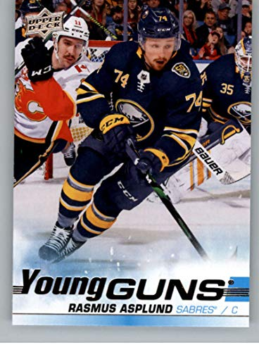 2019-20 Upper Deck Hockey #475 Rasmus Asplund RC Rookie Card Buffalo Sabres Young Guns Official Series Two Trading Card From UD