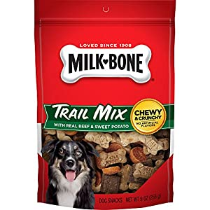 Milk-Bone Trail Mix With Real Beef & Sweet Potato Dog Treats, 9-Ounce (Pack of 3)