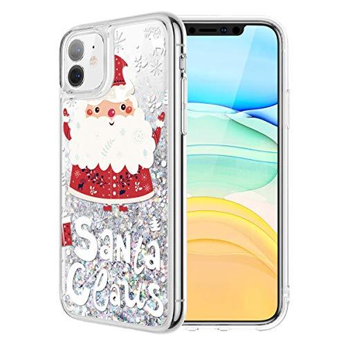 Yoedge Funda para Apple iPhone 11, Glitter Liquida Silicona Cárcasa Navidad con Dibujos Bling Brillante Antigolpes...